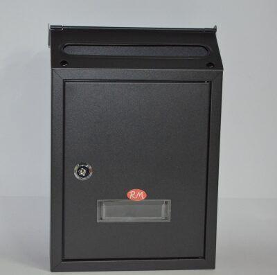 Buzón metálico interior/exterior 30 x 21 cm negro