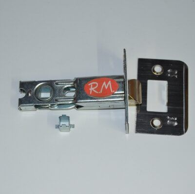 Picaporte puerta 60 mm frente cuadrado latonado