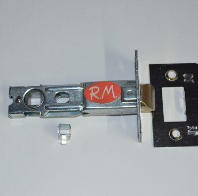Picaporte puerta 70 mm frente cuadrado latonado